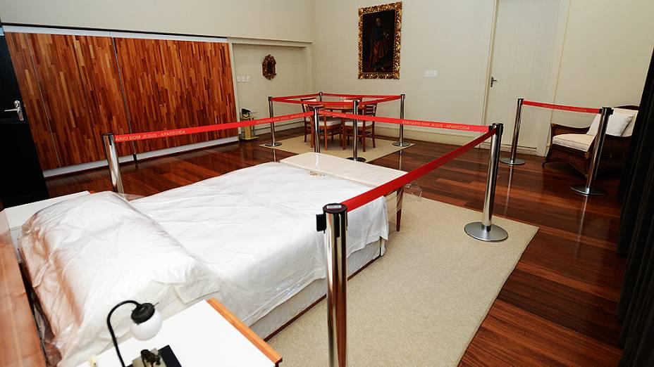 Aposentos onde o papa Francisco vai ter à disposição no Seminário de Bom Jesus, em Aparecida, no dia 24 de julho