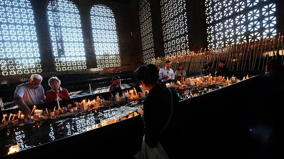 Capela das Velas no Santuário Nacional de Aparecida, em São Paulo