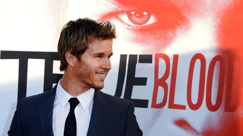O ator Ryan Kwanten na première da série True Blood, em Hollywood