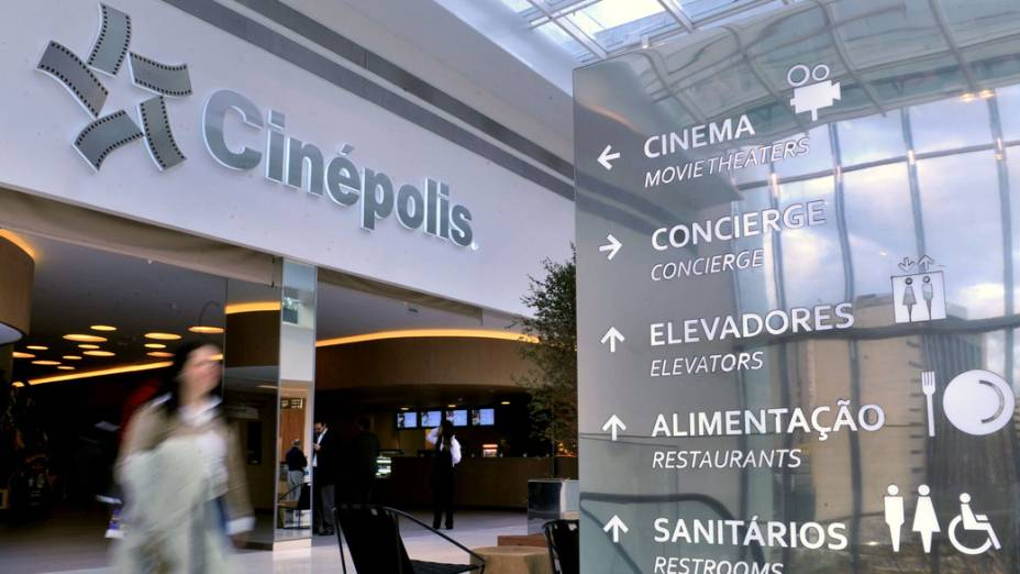 Entrada do cinema do novo shopping Jk Iguatemi