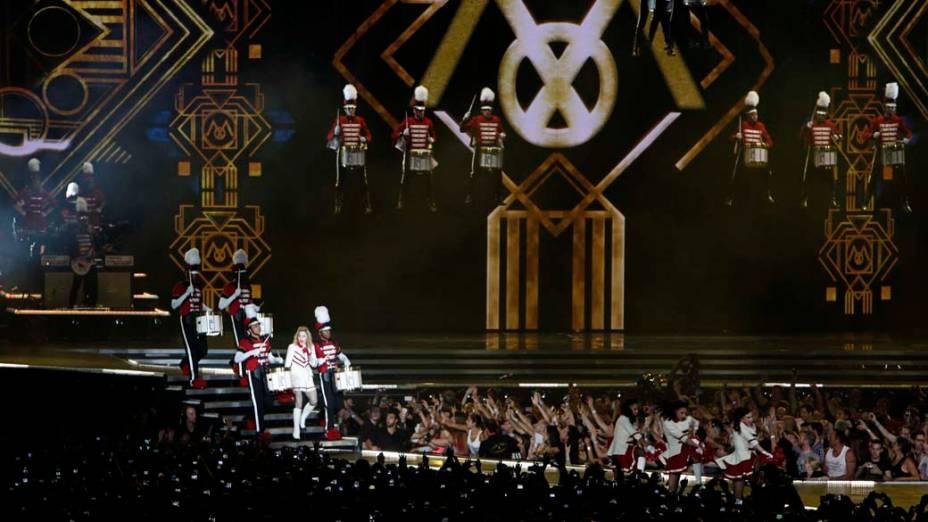 Apresentação da turnê mundial da cantora Madonna, em Israel