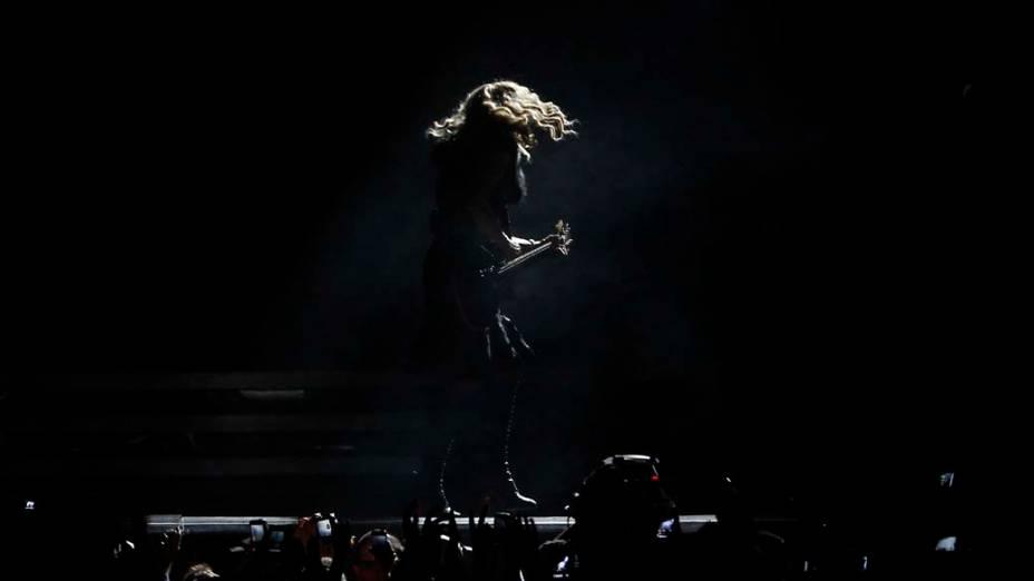 Madonna durante show em Tel Aviv, Israel