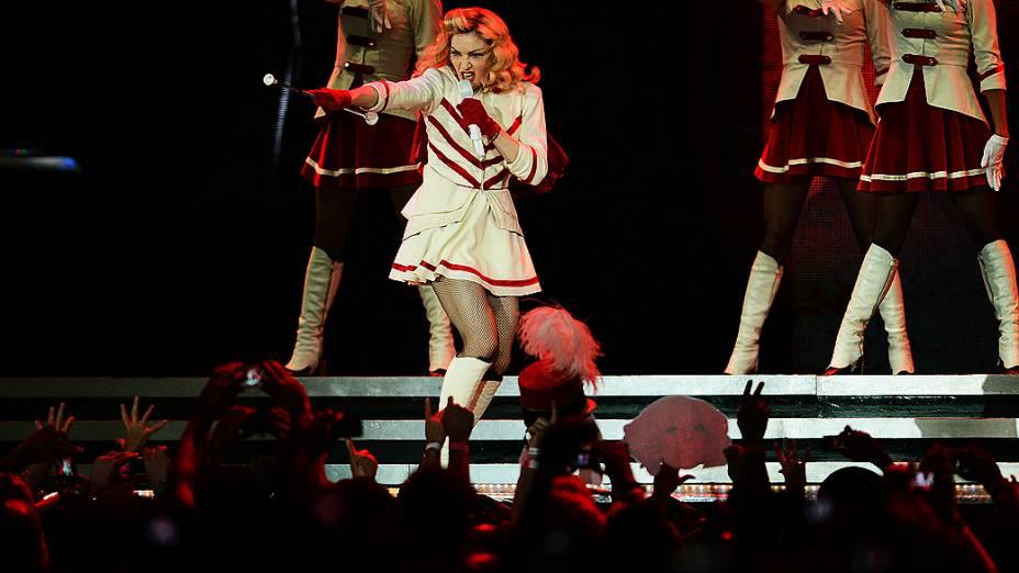 Madonna se apresentou na noite desta terça-feira no Estádio do Morumbi, em São Paulo