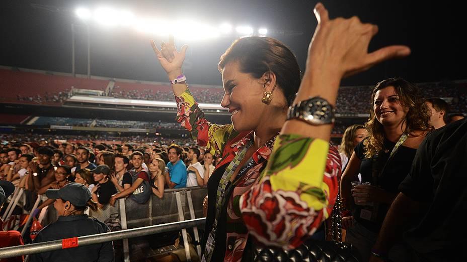 Narcisa Tamborindeguy durante o show da Madonna em São Paulo