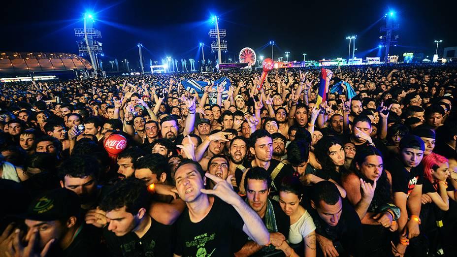 Fãs do Metallica durante show no Rock in Rio 2013