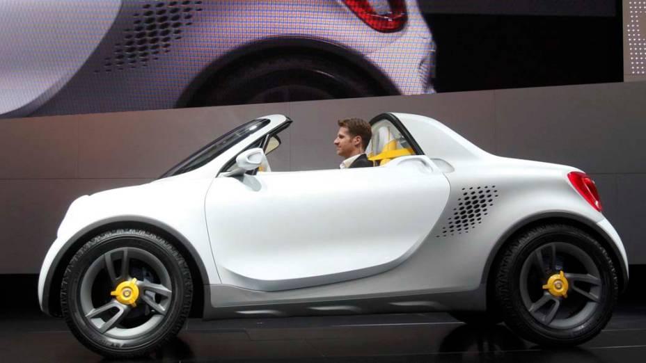 Smart For-Us - Vencedor do Los Angeles Auto Show Design Challenge, um concurso de desenho, este protótipo compacto, em versão picape, tem motor elétrico com 75 cavalos