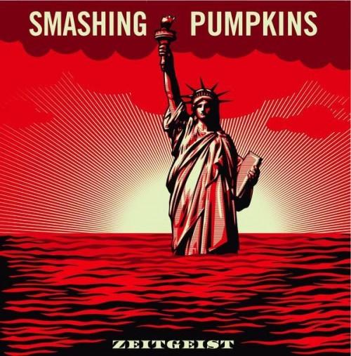 Capa de disco do Smashing Pumpkins feita por Shepard Fairey