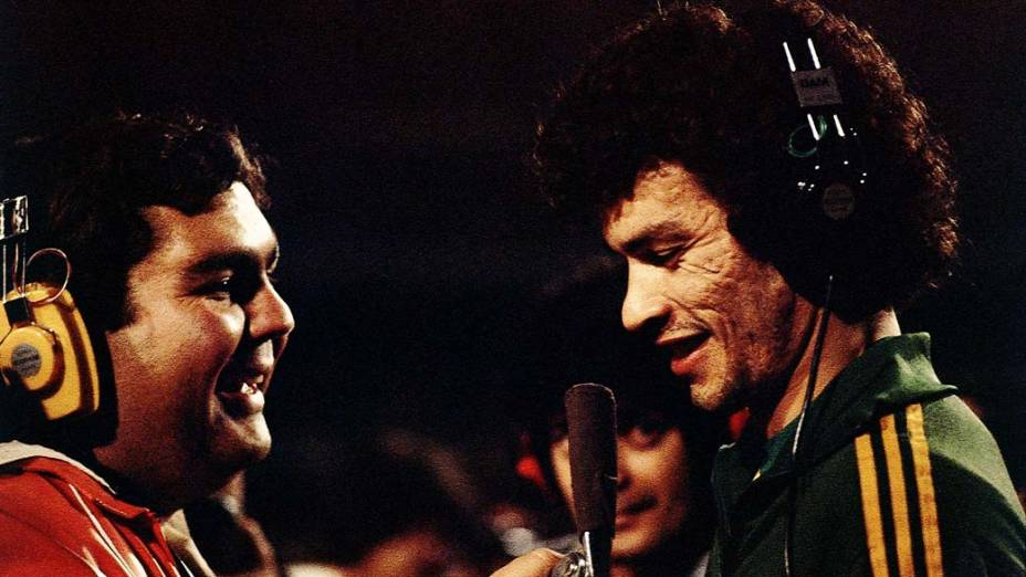 Sócrates sendo entrevistado por Fausto Silva, 1979<br>