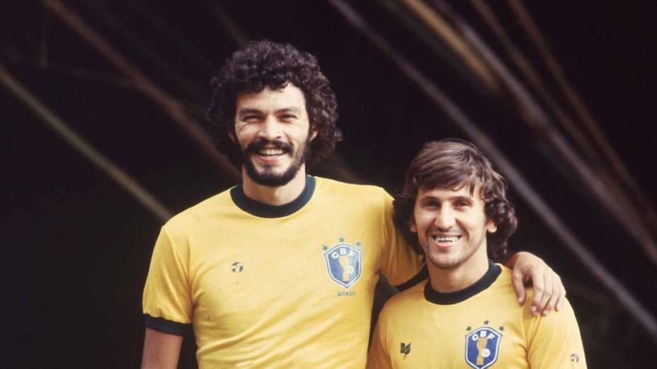 Sócrates e Zico, 1982<br>