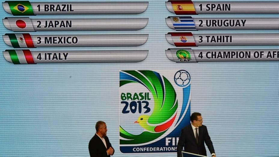 Jérôme Valcke no sorteio dos grupos da Copa das Confederações
