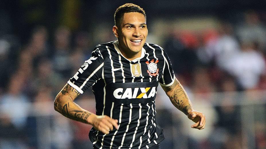 Gol de Guerrero do Corinthians na partida contra o São Paulo no Morumbi<br>  <br>