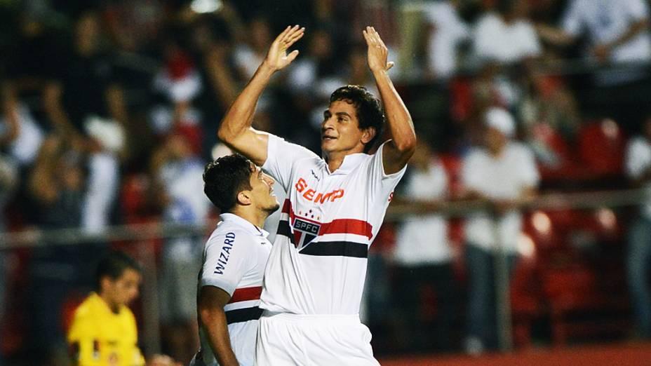 Paulo Henrique Ganso marcou o primeiro gol do São Paulo na partida contra a Ponte Preta, no Morumbi