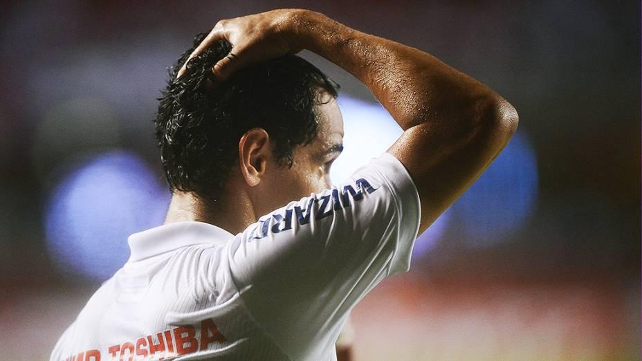 Paulo Henrique Ganso do São Paulo na derrota por 3 a 1 para a Ponte Preta, no Morumbi