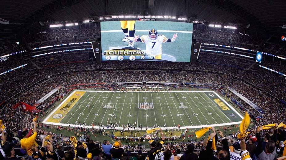 Estádio onde ocorrem algumas das partidas de futebol americano do Super Bowl