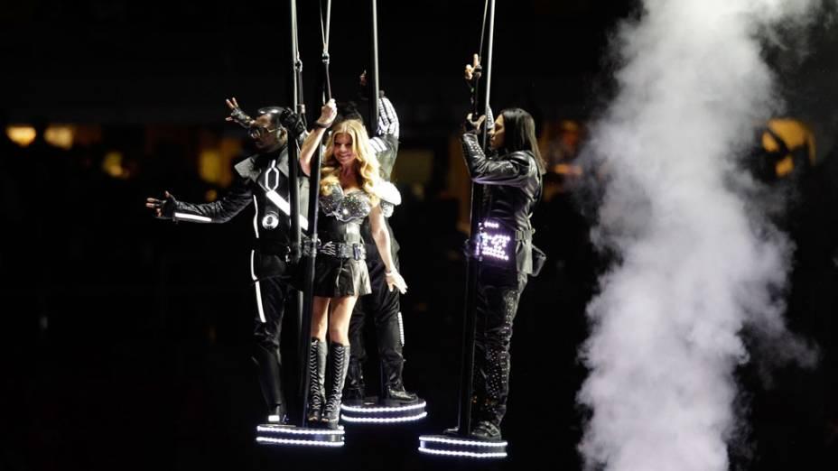 O grupo Black Eyed Peas foi uma das atrações do intervalo do Super Bowl XLV