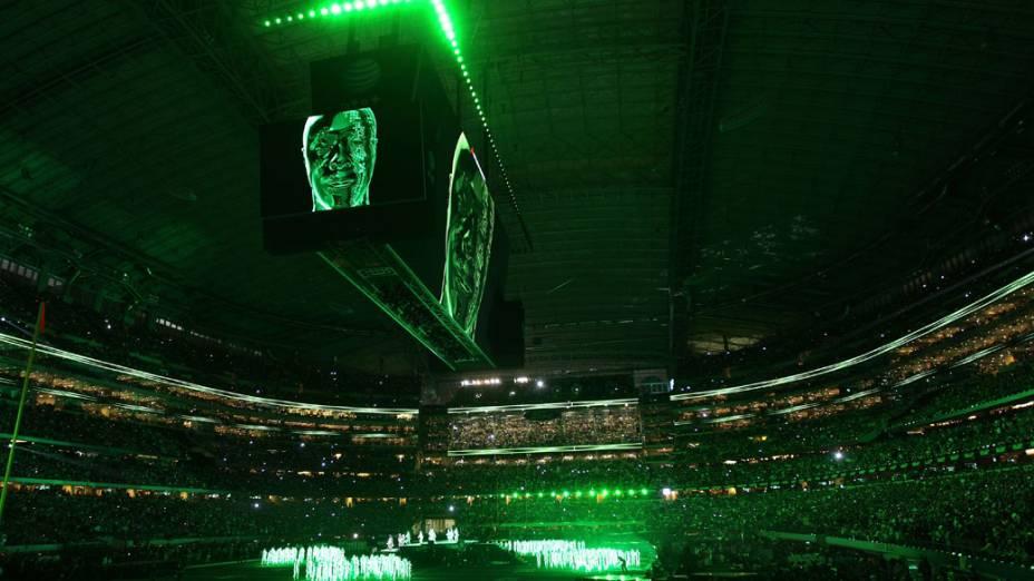 Show do grupo Black Eyed Peas durante o intervalo do Super Bowl XLV