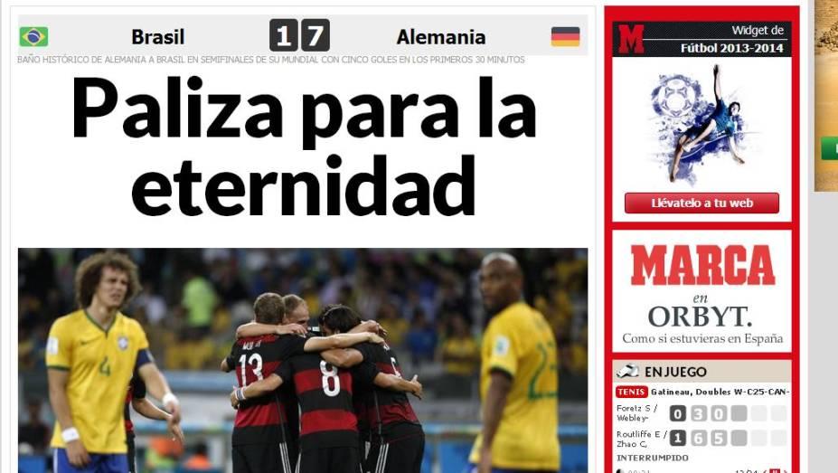 """""""Surra para a eternidade"""", exclamou o jornal espanhol <em>Marca</em>"""
