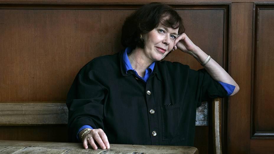 Atriz holandesa Sylvia Kristel em 2005