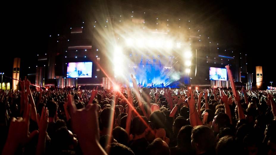 O público durante o show do System of a Down no palco Mundo, no último dia do Rock in Rio, em 02/10/2011