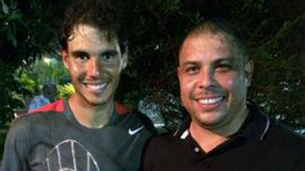 Nadal e Ronaldo, no Rio de Janeiro, agora parceiros