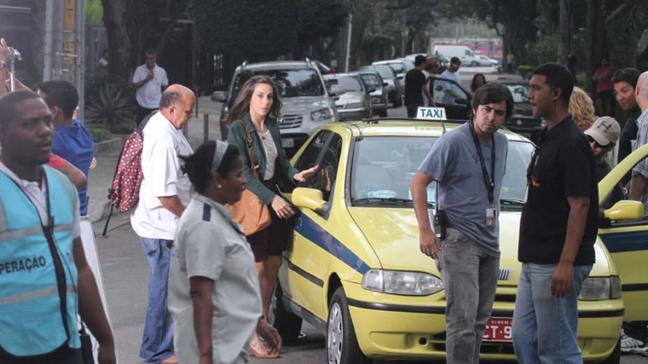 Tânia Kalill durante gravação da novela <em>Fina Estampa</em> da Rede Globo, Rio de Janeiro