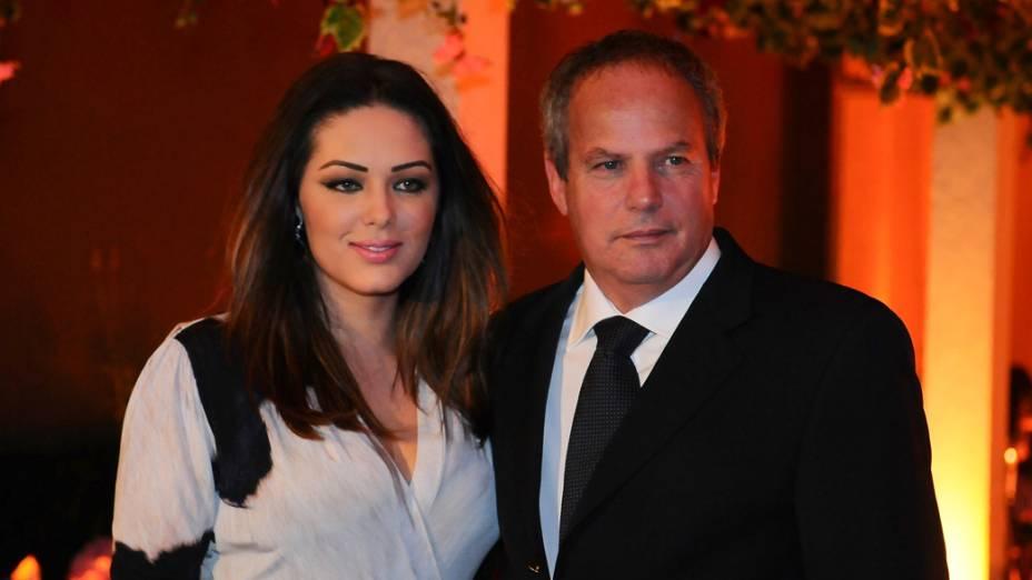 """Tania Mara e Jayme Monjardim durante a festa de lançamento da novela """"A vida da gente"""""""