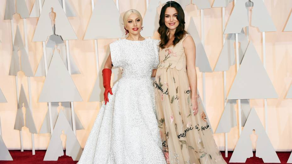 Lady Gaga e Keira Knightley no Oscar 2015
