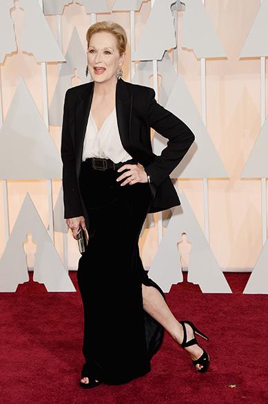 A atriz Meryl Streep no Oscar 2015