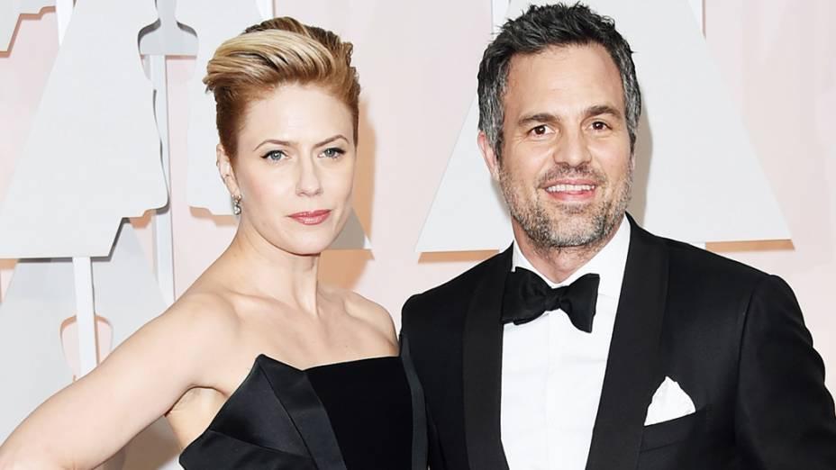 Mark Ruffalo e Sunrise Coigney no Oscar 2015