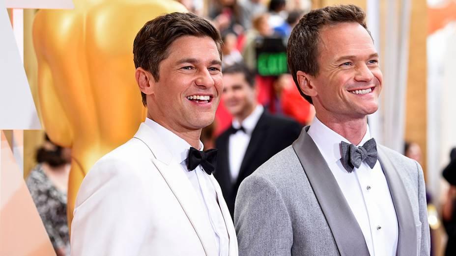 Neil Patrick Harris e David Burtka no Oscar 2015