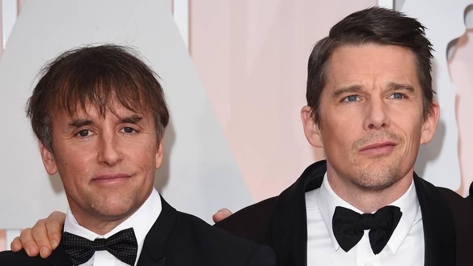 Richard Linklater e Ethan Hawke no Oscar 2015