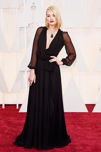 A atriz Margot Robbie no Oscar 2015