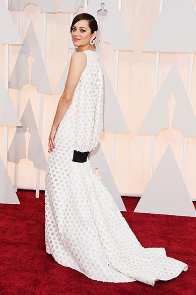 A atriz Marion Cotillard no Oscar 2015