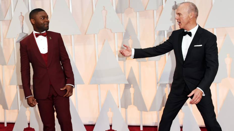 David Oyelowo, ator de Selma, e Michael Keaton, de Birdman