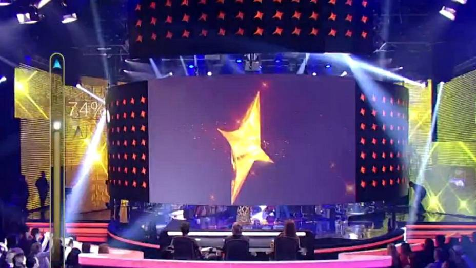 Telão do SuperStar sobe para a banda Bicho de Pé