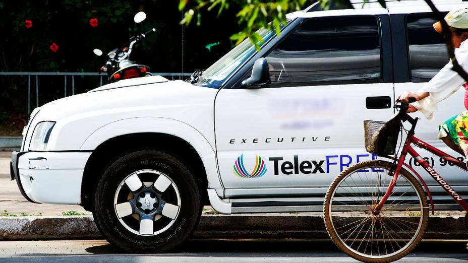 Carro com marca da TelexFree na cidade Lucas do Rio Verde no estado do Mato Grosso