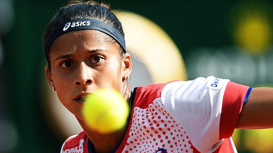 Teliana Pereira durante o Rio Open 2014