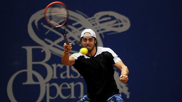 O italiano Paolo Lorenzi no Brasil Open 2014
