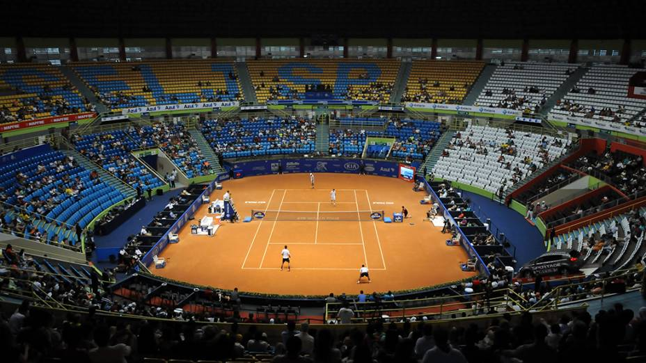Final das duplas no Brasil Open 2014, em São Paulo