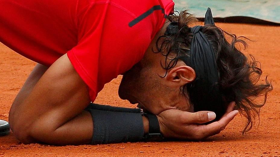 O espanhol Rafael Nadal venceu o sérvio Novak Djokovic e conquistou pela sétima vez o torneio de Roland Garros
