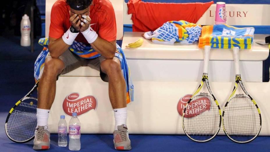 O tenista espanhol Rafael Nadal foi desclassificado nas quartas de final no Aberto da Austrália em Melbourne