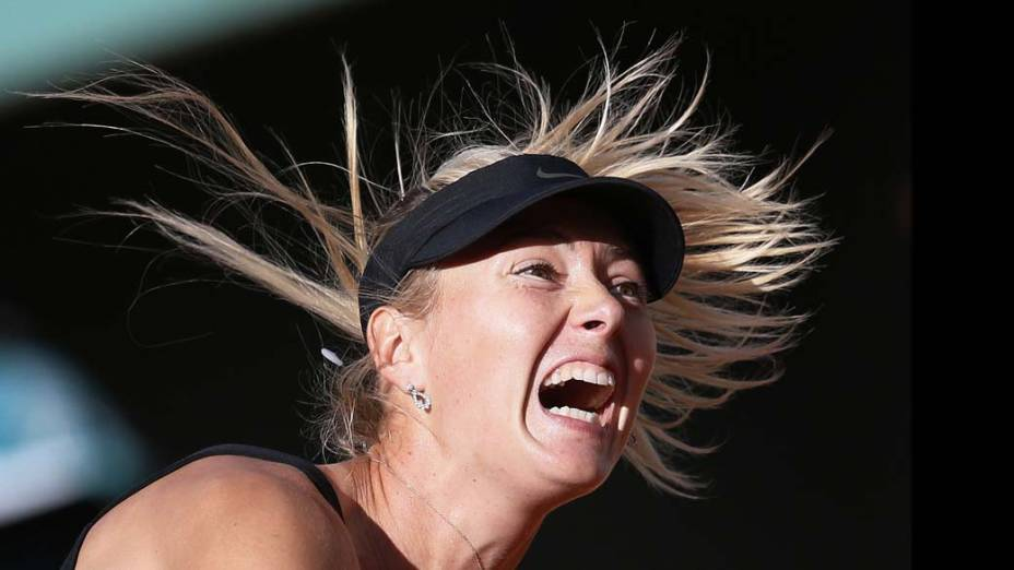 A russa Maria Sharapova na semi-final do torneio de tênis de Roland Garros, na França