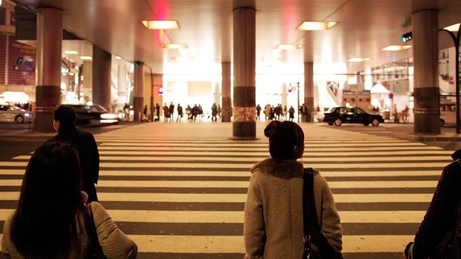 Estação de Shibuya no centro de Tóquio, Japão