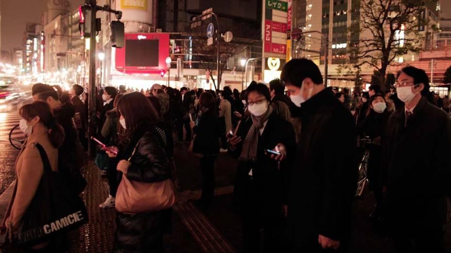 Bairro de Shibuya em Tóquio, Japão