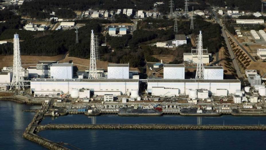 Usina nuclear de Fukushima antes da explosão