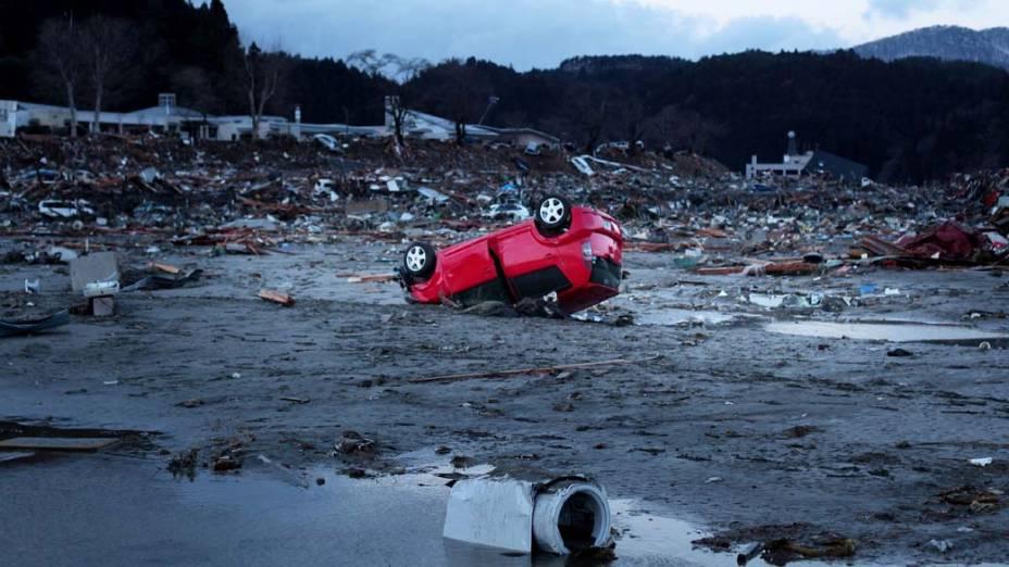 Escombros em Minamisanriku, Japão