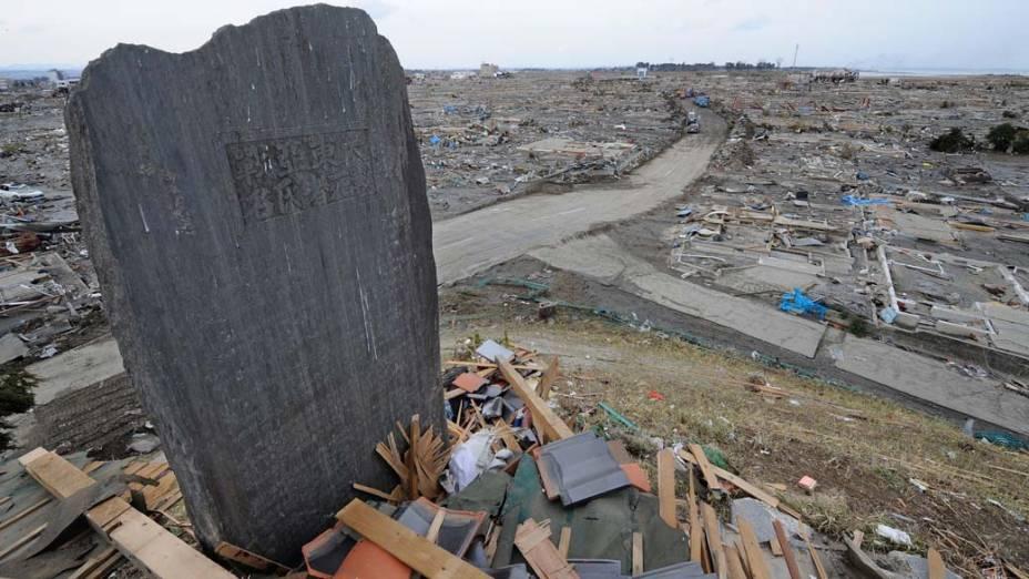 Monumento às vítimas da Segunda Guerra Mundial na cidade de Natori, Japão