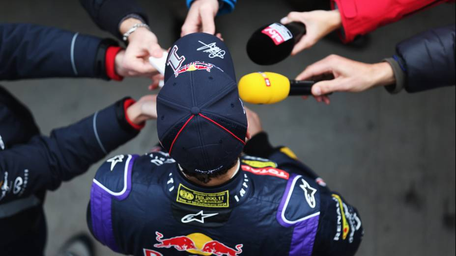 Sebastian Vettel após teste da Red Bull, na Espanha