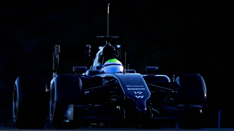 Felipe Massa durante teste da Williams, na Espanha