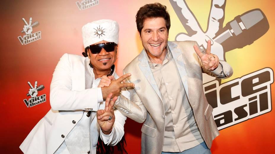 Carlinhos Brown e Daniel na final do The Voice